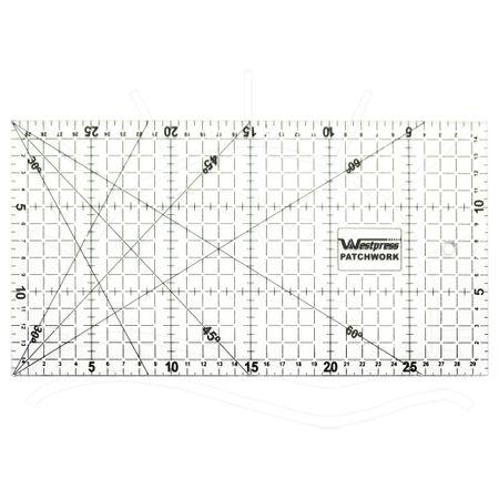 Régua para Patchwork Westpress - 15x30cm