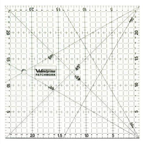 Régua para Patchwork Westpress - 25x25cm