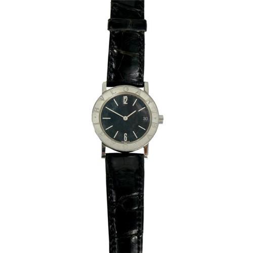 Relógio Bulgari Di Bulgari Croco Preto