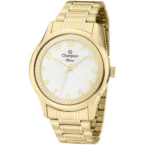 Relógio Champion Diva Feminino Dourado CN27625H