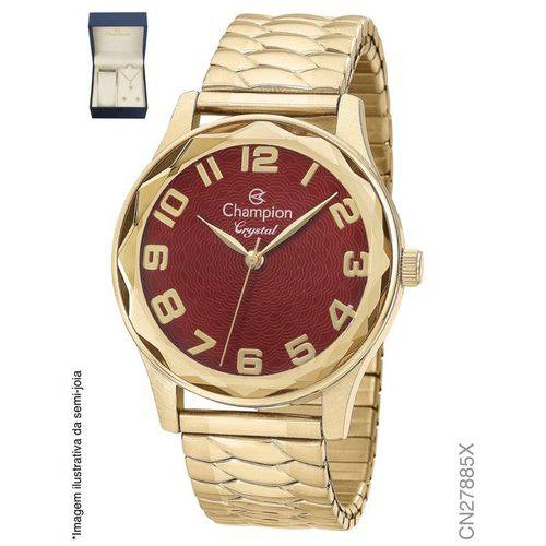 Relógio Champion Feminino + Conjunto Semi Joia CN27885X