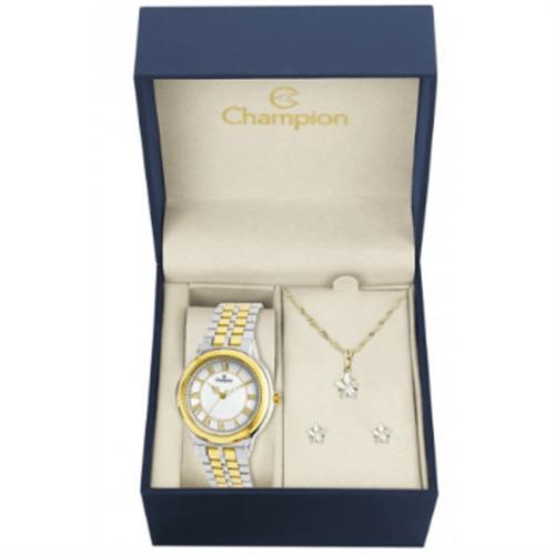 Relógio Champion Feminino Kit Colar e Brincos CH22957D 0