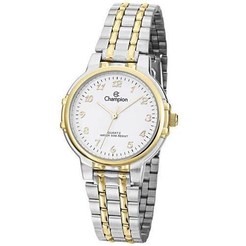 Relógio Champion Prateado e Dourado Feminino Cn28142b