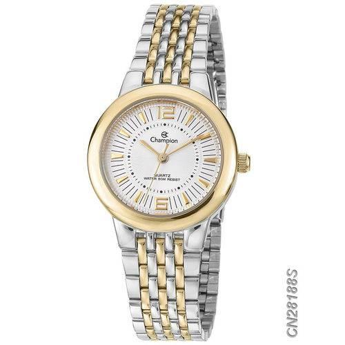 Relógio Champion Prateado e Dourado Feminino Cn28188s