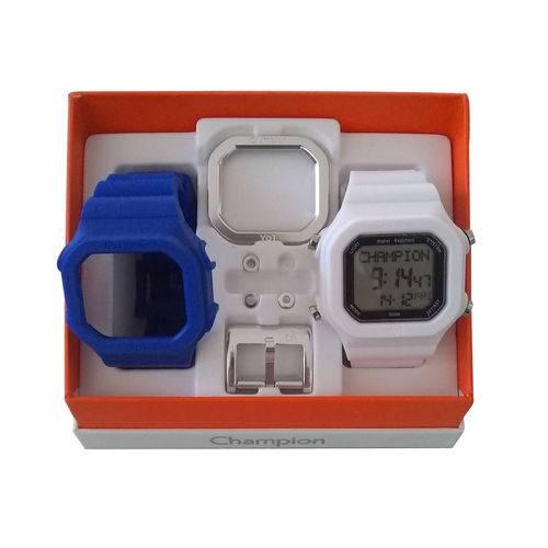 Relógio Champion Yot Cp40180x Branco Azul
