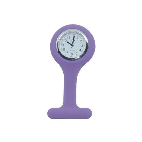 Relógio de Lapela em Silicone para Enfermeiras - Lilás