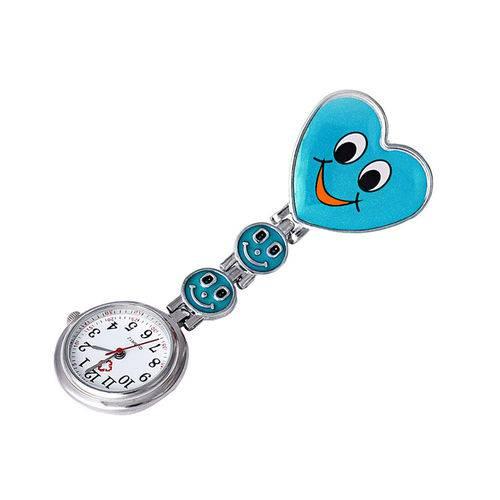 Relógio de Lapela Enfermagem Outros Profissionais Azul Claro
