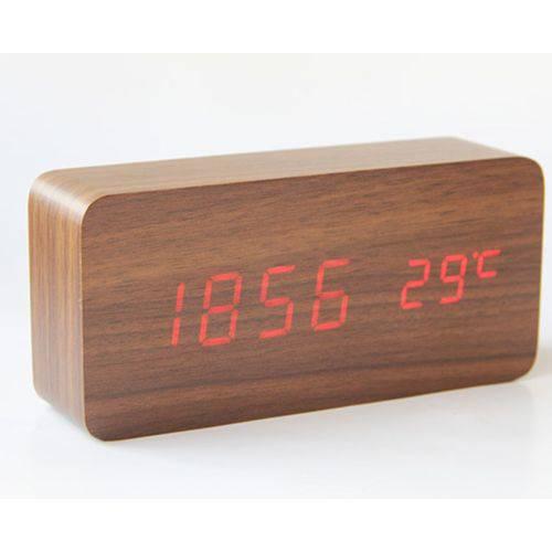 Relógio de Madeira de Mesa