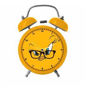 Relógio de Mesa Despertador em Metal Piu Piu Looney Tunes