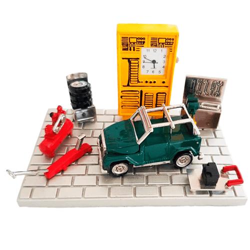 Relógio de Mesa Miniatura Garagem