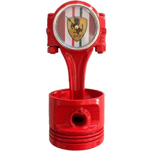 Relógio de Mesa Pistão Ferrari Vermelho