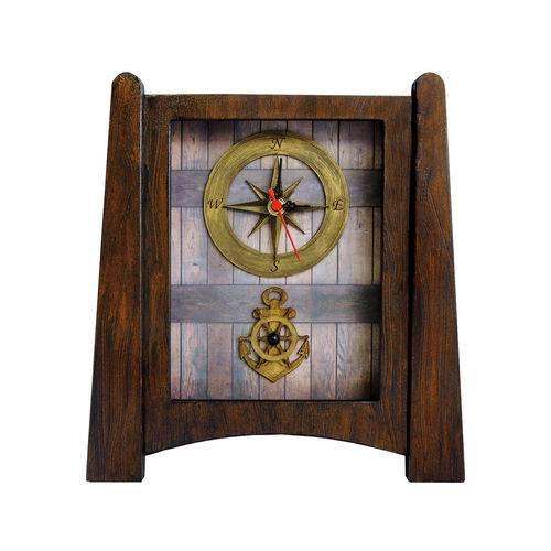 Relógio de Mesa Vintage - Modelo Marinheiro - 30x27cm