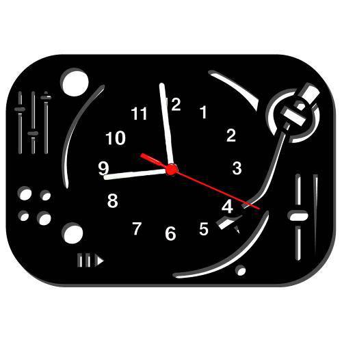 Relógio de Parede Decorativo Mesa de Som