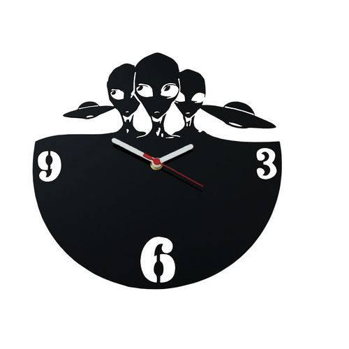 Relógio de Parede Decorativo - Modelo Extraterrestres