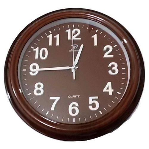 Relógio de Parede Elegante Números Grandes Alto Relevo