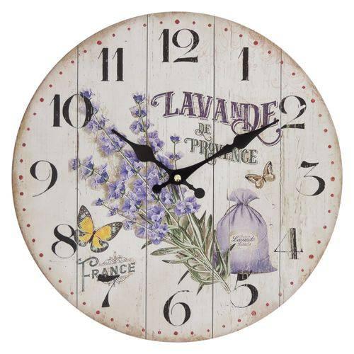 Relógio de Parede Lavanda 35,5