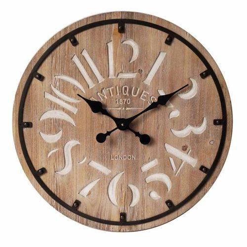 Relógio de Parede London de Madeira Ø60cm