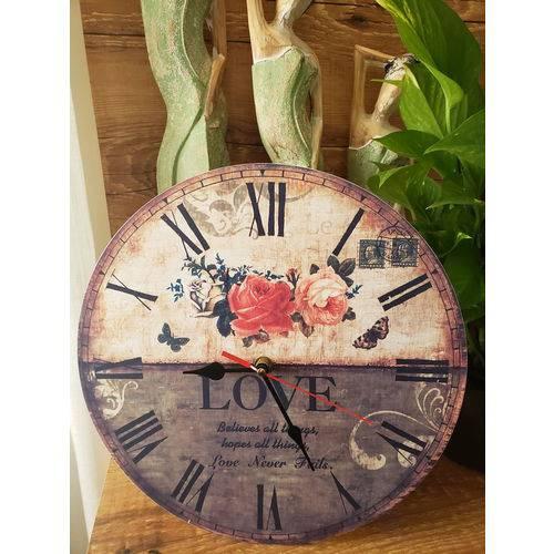Relógio de Parede Love 30 Cm