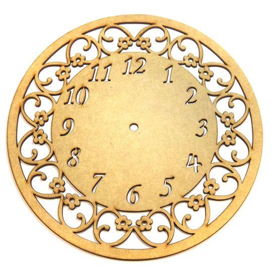 Relógio de Parede Margaridas 20x20cm - Palácio da Arte