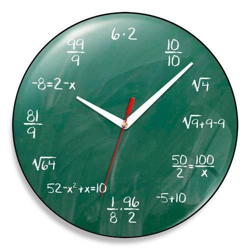 Relógio de Parede Matemático