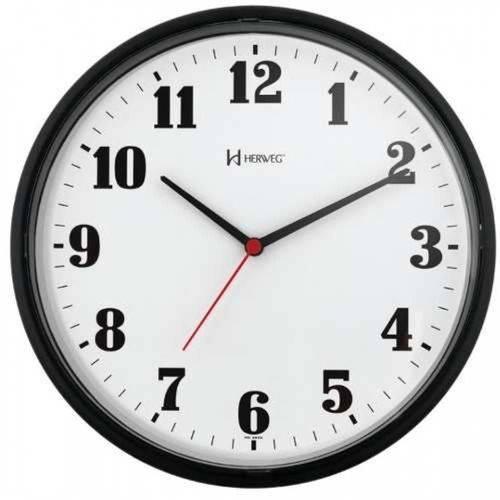 Relógio de Parede Médio Herweg Preto