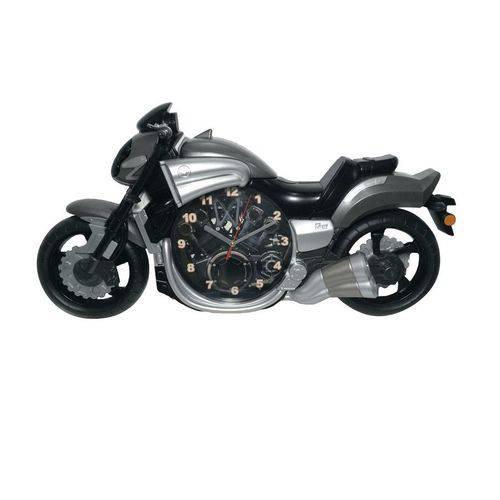 Relógio de Parede Moto Cinza 58cm Nataluz