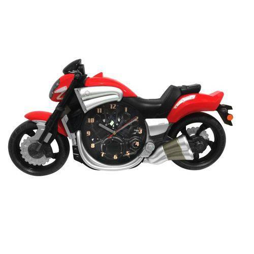 Relógio de Parede Moto Vermelha 58cm Nataluz