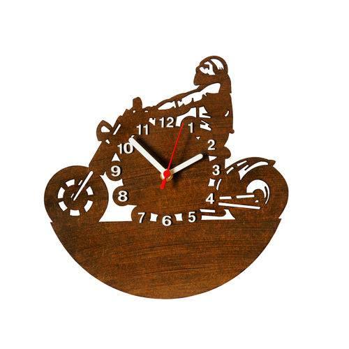 Relógio Decorativo - Modelo Motoqueiro - ME Criative