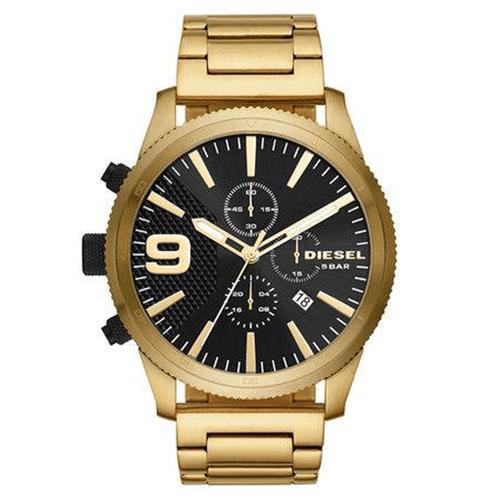 Relógio Diesel Masculino Black And Gold Dourado DZ4488-1DN