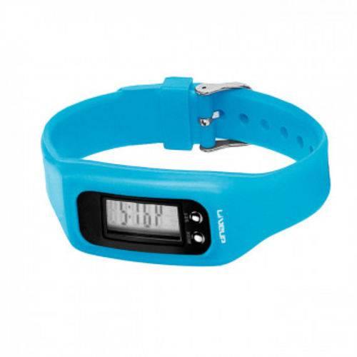 Relogio Digital de Pulso em Silicone com Contador de Passos, Calorias e Distancia Azul