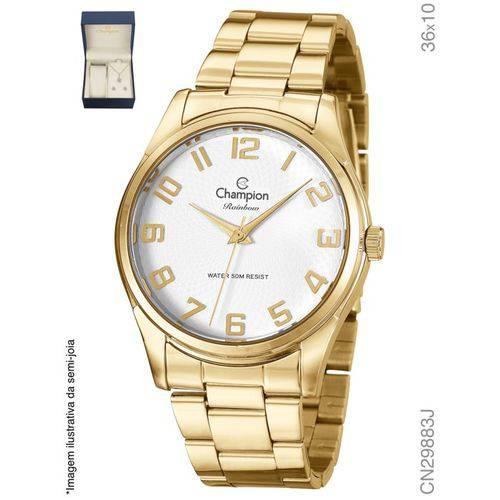 Relógio Dourado Champion Masculino e Feminino Cn29883j