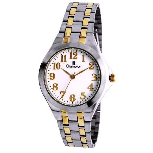 Relógio Feminino Champion Pulseira Prata e Dourado Ch22877b