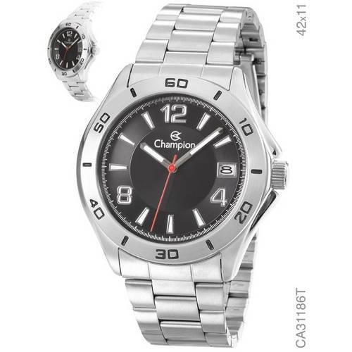 Relógio Masculino Champion Prata Fosco Ca31186t