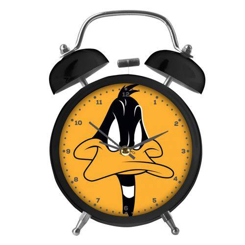 Relogio Mesa Despertador Metal Looney Daffy Duck Big Face