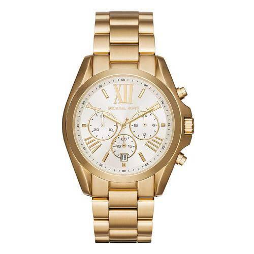 Relógio Michael Kors Feminino Ref: Mk6266/4bn Cronógrafo Dourado