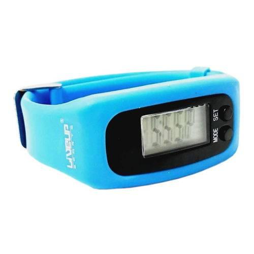 Relógio Pedômetro Azul Liveup Ls3348a