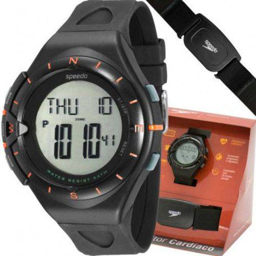 Relógio Speedo Masculino Digital C/monitor Cardíaco 58010g0evnp1 Preto