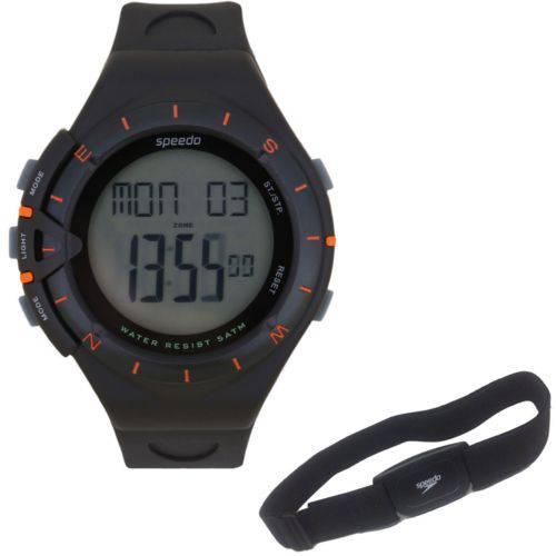Relógio Speedo Masculino Digital Preto com Monitor Cardíaco