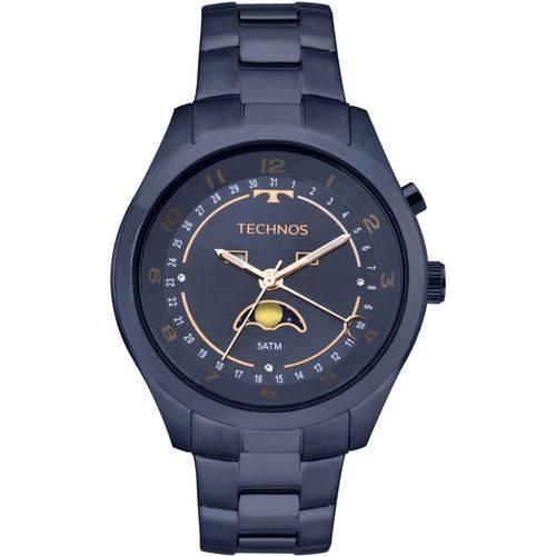 Relógio Technos Calendário Lunar Feminino Azul - 6p80ae/4a