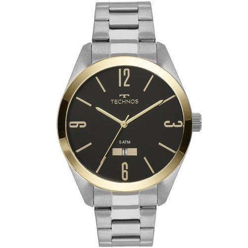 Relógio Technos Masculino Classic Steel Prata - 2115mnv/1p