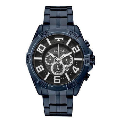 Relógio Technos Masculino Ref: Os2abh/4p Cronógrafo Big Case Azul