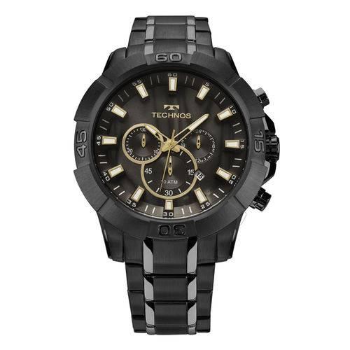 Relógio Technos Preto Masculino Legacy Cronógrafo JS26AG/4P