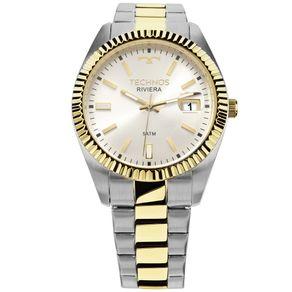 Relógio Technos Riviera Prata/Dourado 2415CG/5B 2415CG/5B