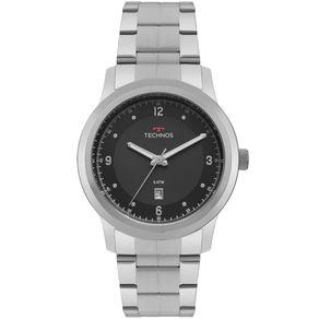 Relógio Technos Steel Masculino Prata 2115MRH/1P 2115MRH/1P