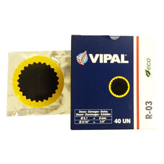 Remendo a Frio R-03 060 Mm Caixa com 40 Pecas - R-03 - Vipal