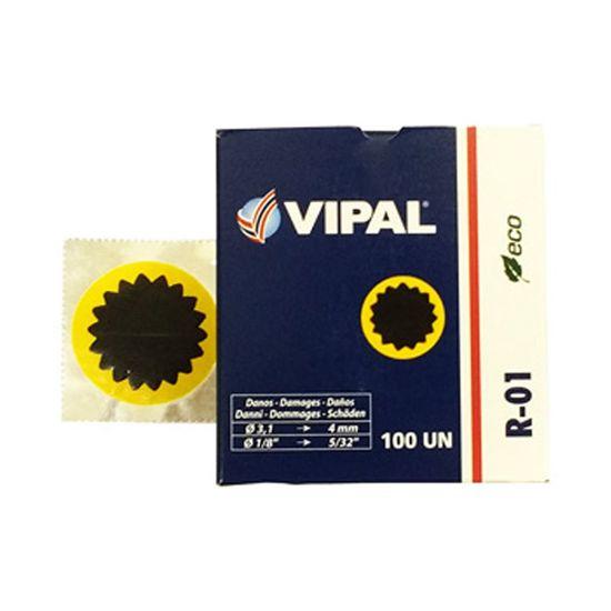 Remendo a Frio R-01 040 MM Caixa com 100 Pecas - R-01 - Vipal