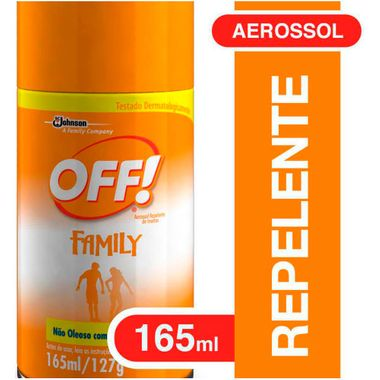 Repelente Aerossol Off 165ml Cj. C/ 3 Latas