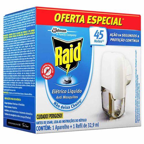 Repelente Elétrico Raid Aparelho + Refil 32,9ml 1009637