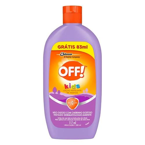 Repelente Off! Kids Loção com 117ml + Grátis 83ml