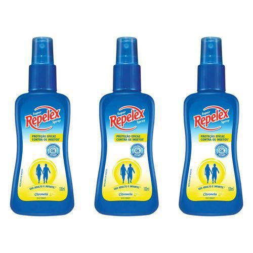Repelex Citronela Repelente Spray 100ml (kit C/03)